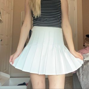 white american apparel tennis skirt
